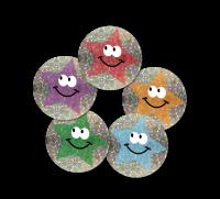 Sparkling Sticker: Multicolour Mini Star Stickers
