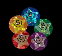Sticker: Sparkling Smiley Stars Variety Sheet
