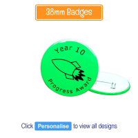 Badge: Personalised - 38mm Neon Green