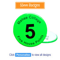 Badge: Personalised - 55mm Neon Green