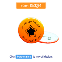 Badge: Personalised - 38mm Neon Orange