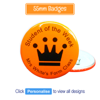 Badge: Personalised - 55mm Neon Orange