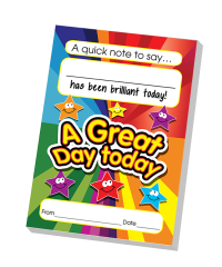 Notepad: A Great Day Today Teacher Quick Notepad