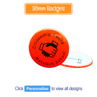 Badge: Personalised - 38mm Neon Red