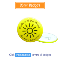Badge: Personalised - 38mm Neon Yellow