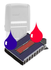 Ink Pad: Red And Blue For TR4755