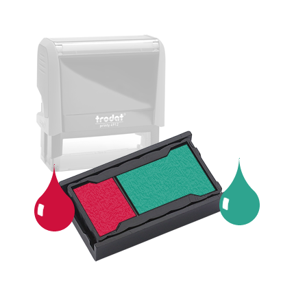 Ink Pad: Carmine Red And Green - For SSC12368 / SSC11951