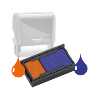 Ink Pad: Deep Orange And Blue - For SSC12367 / SSC11960 / SSC11948