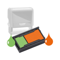 Ink Pad: Yellow Green And Deep Orange - For SSC11963