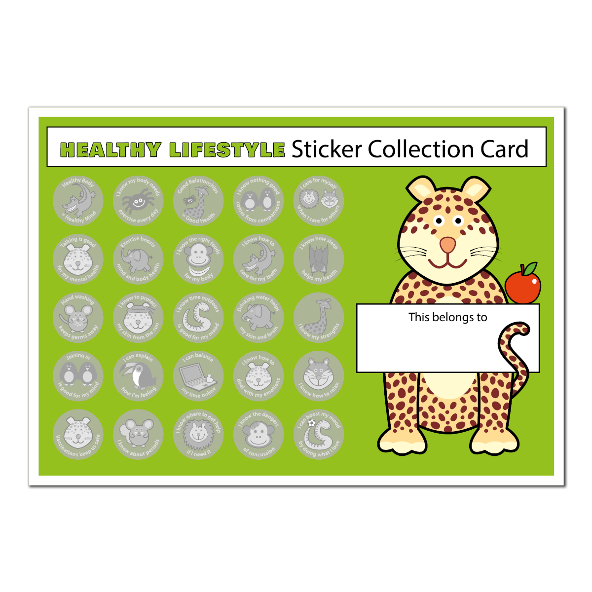 Healthy Lifestyle Collector Charts (A4)