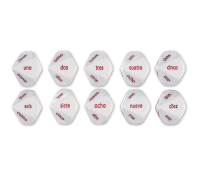 Games: Spanish Number Dice (Set of 6)