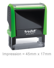 Personalised Stamper: Rect - Green 45mm x 17mm