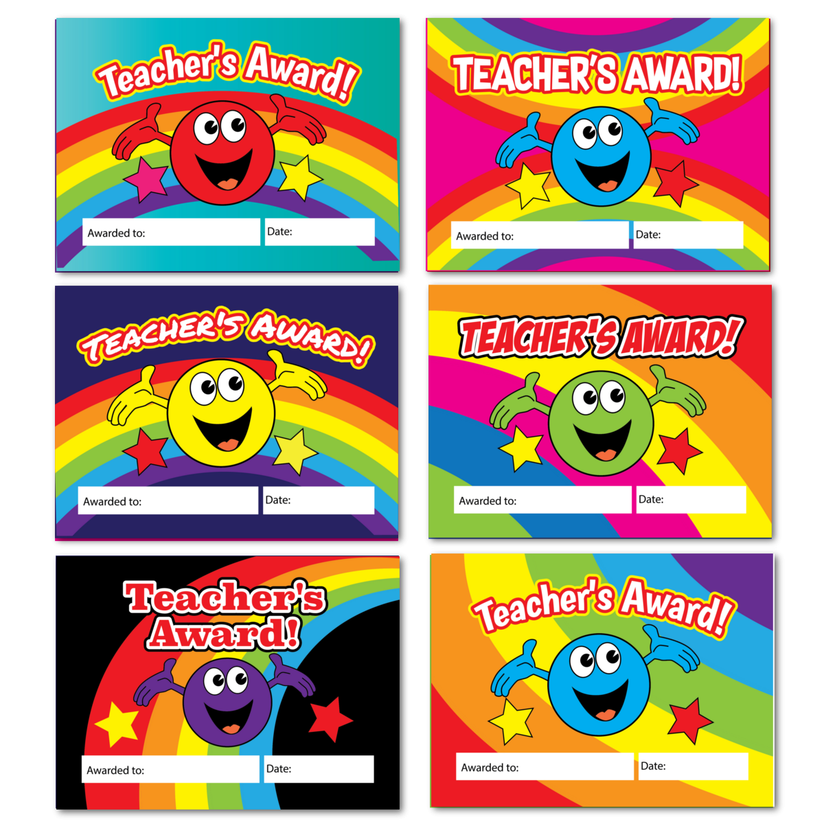 Smiley Reward Cards