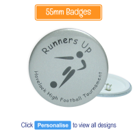 Badge: Personalised - 55mm Silver