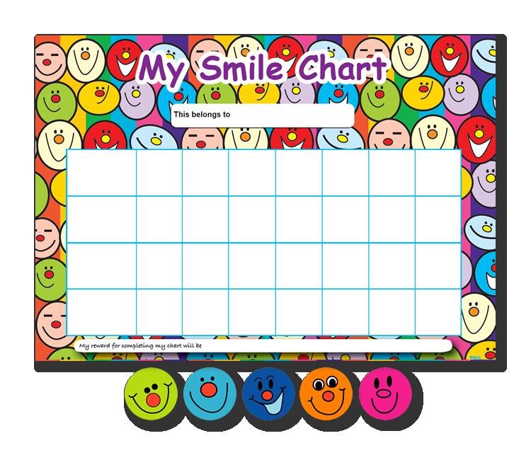 Multi Smile A4 Chart / Sticker Set - MS1501