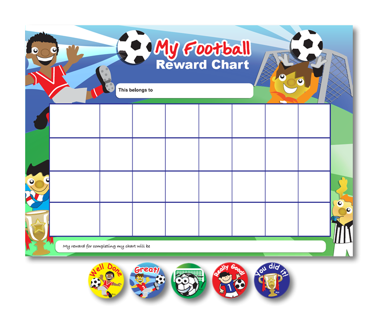 My Football Chart & Stickers Set - MS10843