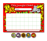 Home Learning Reward Charts and Stickers Set: Jungle