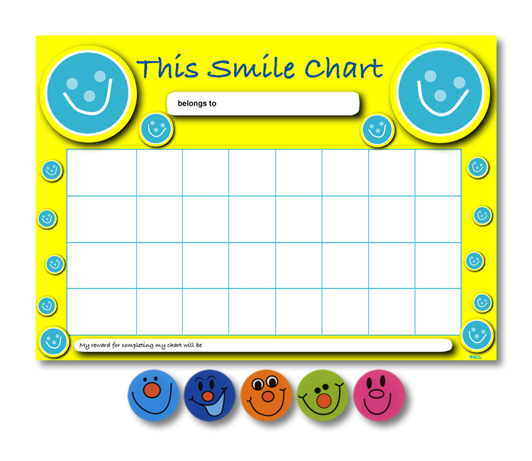 Home Learning Reward Charts And Stickers Set: Smiley Face