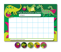 Home Learning Reward Charts And Stickers Set: Dinosaurs