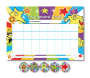 Rainbow Stars Charts With Sparkling Sticker Pack - MS1565
