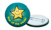Star Of The Week Badges - 38mm