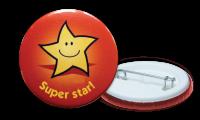 Super Star Badges - 38mm