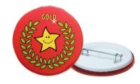 `Gold` Reward Badges: 38mm: 20 Badges