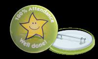 100% Attendance Badges - 38mm