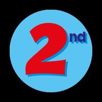 2nd Sticker (38mm)