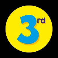 3rd Sticker (38mm)