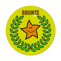 Bronze Primary Sports Stickers (38mm)