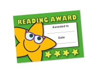 A6 Mini Certificate - Reading Award - Pack Of 32