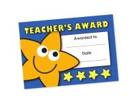 A6 Mini Certificate - Teacher`s Award - Pack Of 32