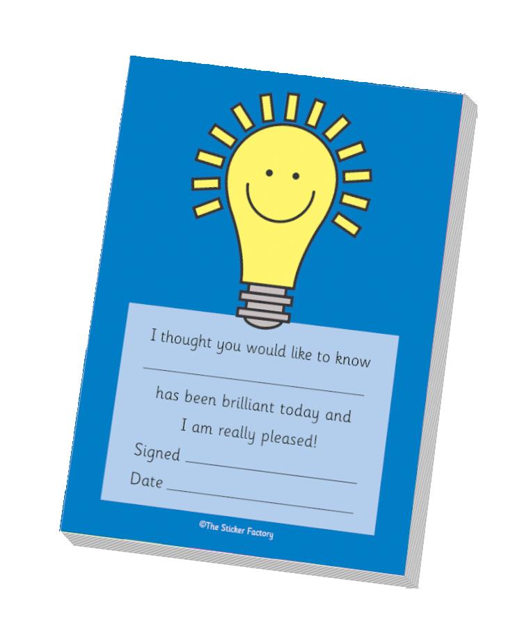 `Brilliant Today` Lightbulb Praise Pad