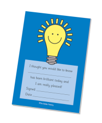 `Brilliant Today` Lightbulb Praise Pad