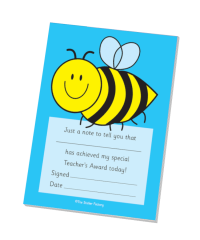 Special Teacher`s Award Bee Praise Pad