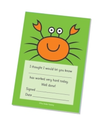 `Worked Very Hard` Crab Praise Pad