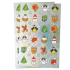 Sparkly Christmas Stickers - No Words - 2 Sheet Pack