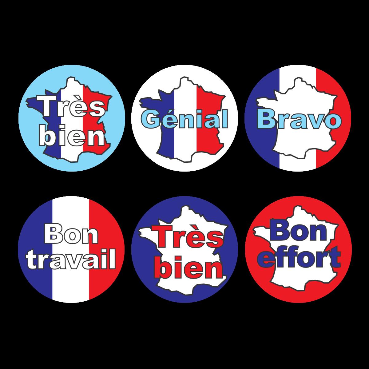 French Language Reward Stickers
