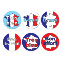 French Language Reward Stickers