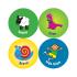 24mm French Language Reward Stickers
