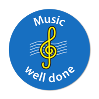 Music `Well Done` Curriculum Stickers (24mm)