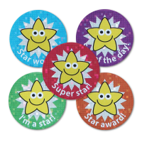 Sparkly Star Mixed Praise Stickers - Pack Of 54