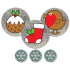 Sparkly Christmas Stickers - No Words - 4 Sheet Pack