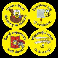 History Reward Stickers (38mm)