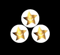 10mm Gold Metallic Smiley Mini Star Stickers