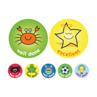 Praise Stickers A4 Compilation Sheet 38mm / 10mm
