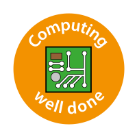 Computing Well Done Stickers (24mm)