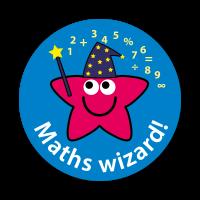Maths Wizard Stickers (28mm)