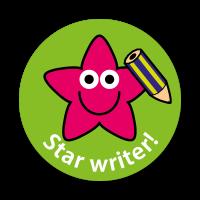 Star Writer Stickers (28mm)